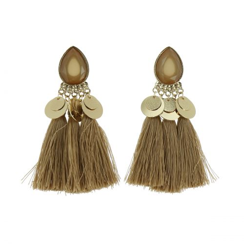 Tassel hanging dangle earring, ELENA