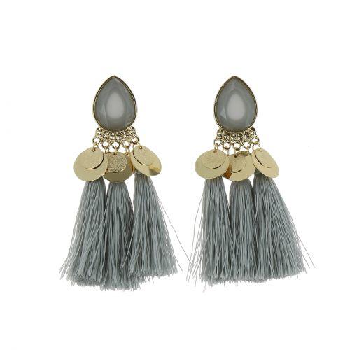 Boucles d'oreilles pendantes à franges, ELENA