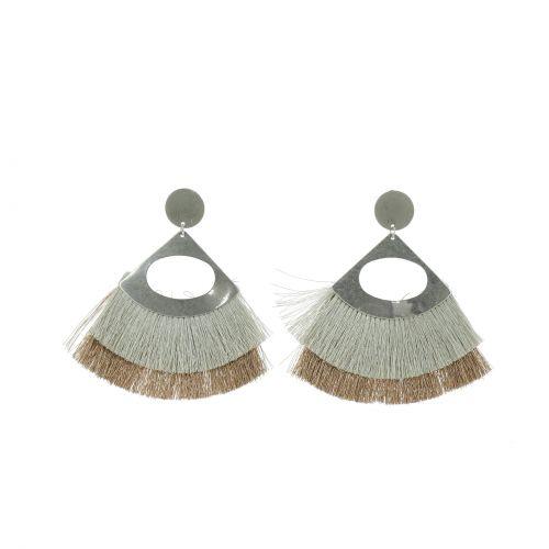 Boucles d'oreilles pendantes à franges IMANE