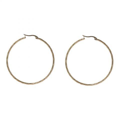 Boucles d'oreilles créole 45mm, Acier inoxydable SOSO
