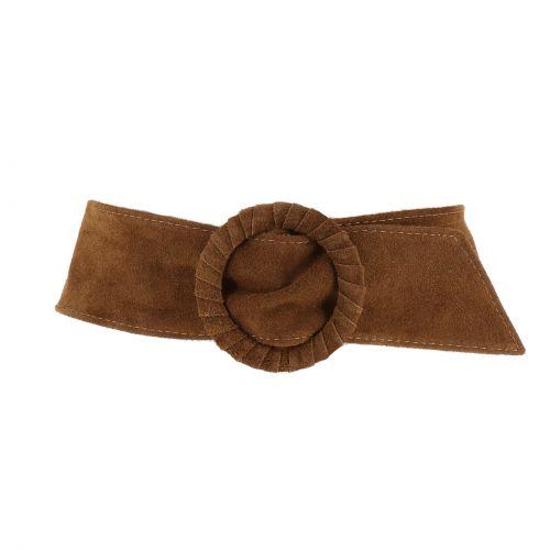 velluto larga cintura in pelle OBI cravatta MAHAUT