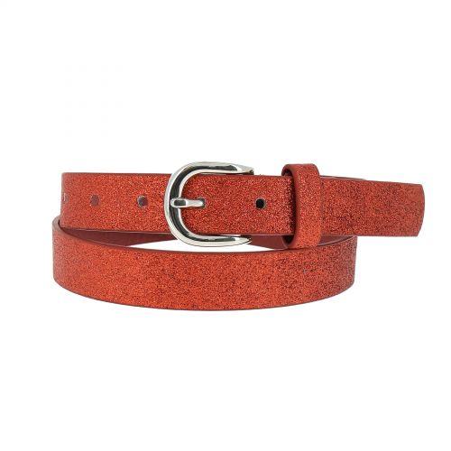 Glitter women's belt 2.50 cm