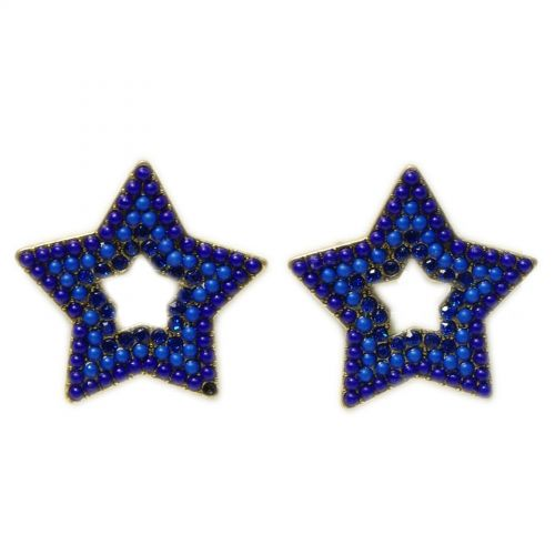 Star Beaded Dangle earrings for woman, VERONICA