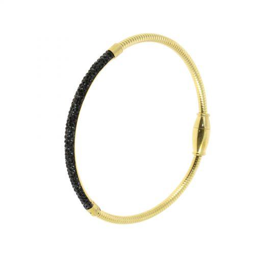 Bracelet en acier inoxydable à strass, DEBBIE