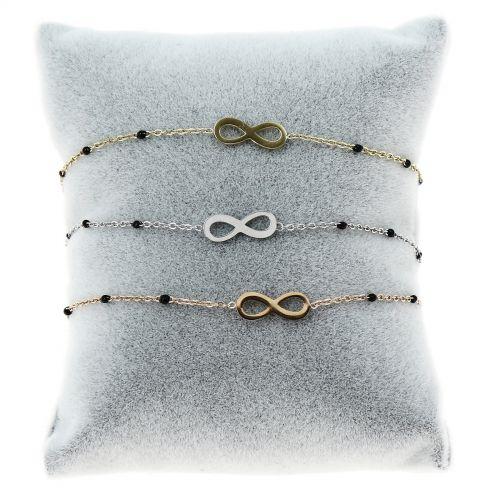 Bracelet femme acier inoxydable adjustable infini IVANA