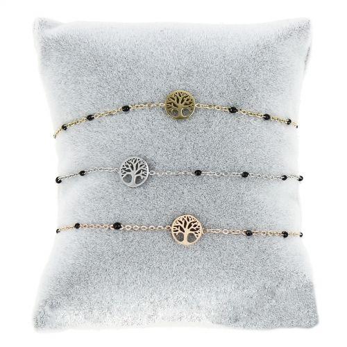 Bracelet femme acier inoxydable adjustable Arbre de Vie KENZA