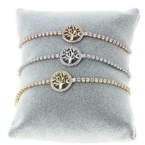 Bracelet à strass adjustable Arbre de Vie INES