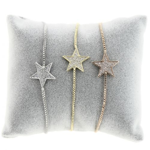 Woman Bracelet, crystal strass with Star, FLEURY