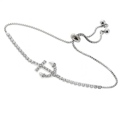 Bracelet femme acier inoxydable adjustable LEONIE