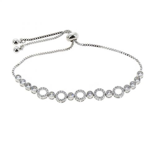 Bracelet femme strass acier inoxydable adjustable ELENA