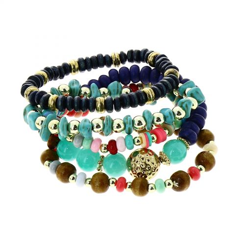 women boho extendable colored bracelet, LISA