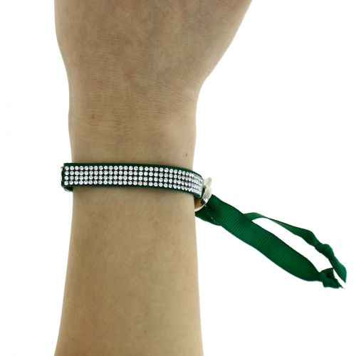 Bracelet ruban 4 rangées de strass