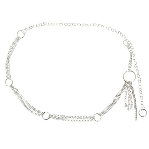 Metallico Catena Elastica Cintura da Donna ANNA