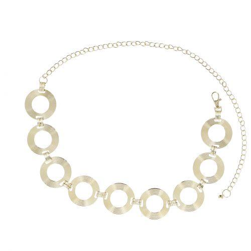 cinturón de eslabones, metal, cadenas, ajustable, cinturón de cadenas para mujer, ANNA