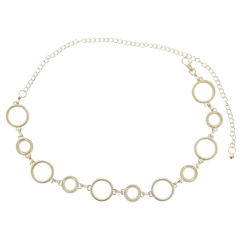 Woman's Lady Fashion Metal Chain Style Belt, ANNA