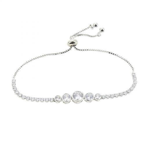 Bracelet femme strass en cristal Acier Inoxydable adjustable LUCILE