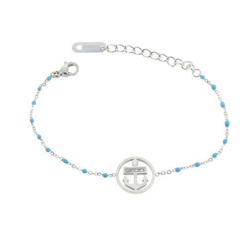 Bracelet femme acier inoxydable adjustable strass HADA