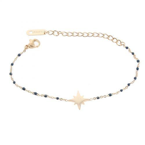 Bracelet femme acier inoxydable adjustable HACI