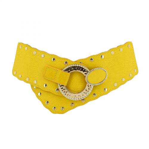 Woman Elastic Large studded waist belt VAITEA