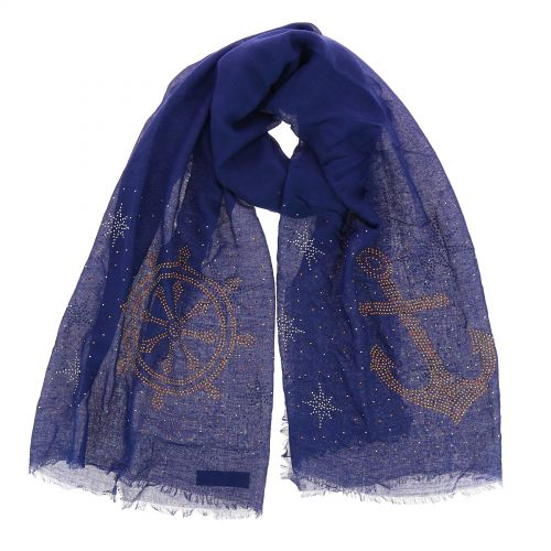 Very soft woman's scarf, Anchor and Navigation bar, OLLIE