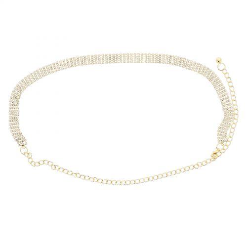 cinturón de eslabones, Strass, cadenas, ajustable, cinturón de cadenas para mujer, ENEA