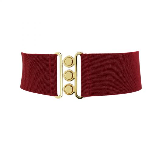 Wide Waist Elasticated Woman Belt Made in France, GLORIA