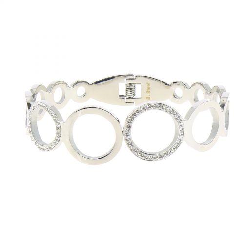 Bracelet Acier inoxydable femme à strass de Zirconium, MELISSA