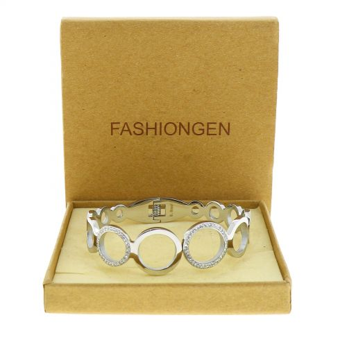 Crystal of zirconium Stainless Steel Bracelet, MELISSA