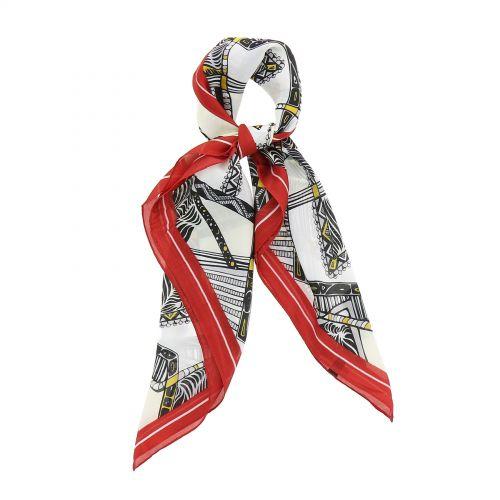 FASHIONGEN Seide Sensation Polyester Damen Quadratischen Schal