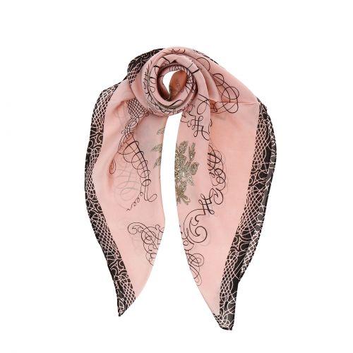 Foulard pour Femme 70 x 70 cm en Polyester sensation Soie, LISIA