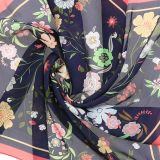 Foulard pour Femme 70 x 70 cm en Polyester sensation Soie, HEMMA