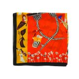 Foulard pour Femme 70 x 70 cm en Polyester sensation Soie, NAIRA
