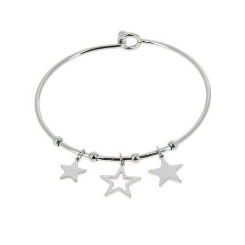 Zirconium crystal Stainless steel bracelet, DORIS