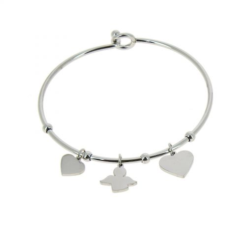 Zirconium crystal Stainless steel bracelet, CELYNA