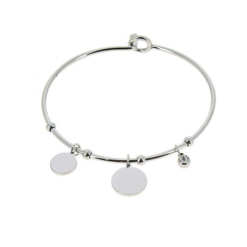 Bracelet Acier inoxydable femme à strass, ROZA