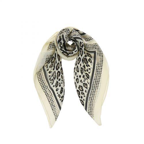 Foulard pour Femme 70 x 70 cm en Polyester haute qualité, sensation Soie, SILVA