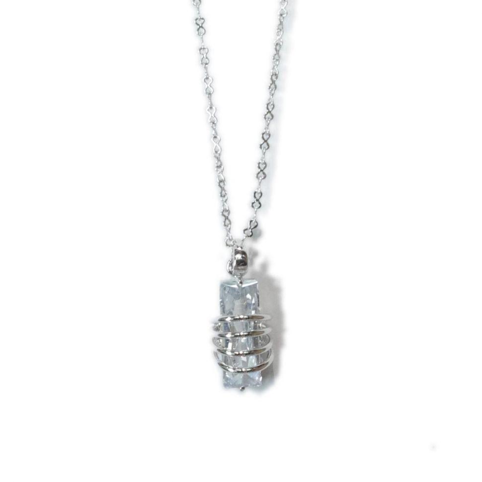 Collier cristal, TA3-564B Argenté - 1949-5594