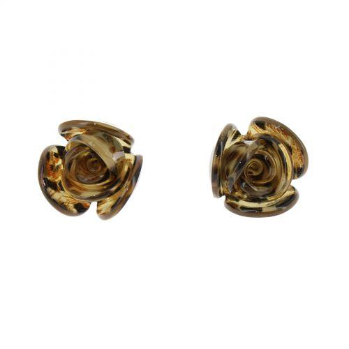 Boucles d'oreilles, Fleur acrylique, 2015
