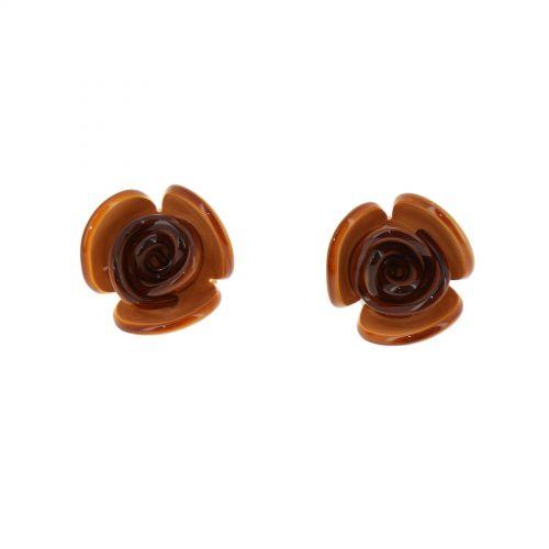 Boucles d'oreilles, Fleur acrylique FLORA