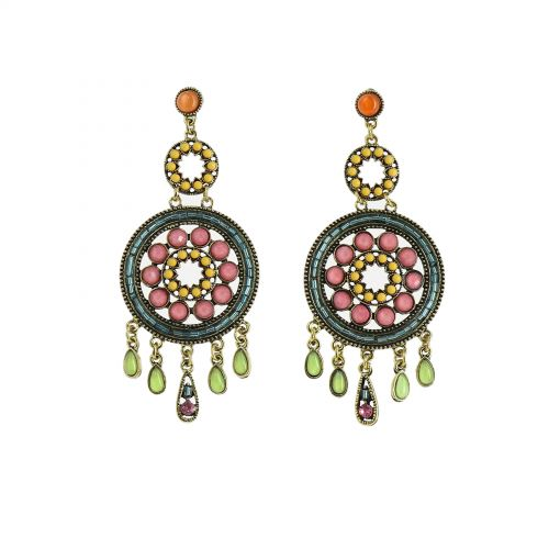 Stainless Steel Beaded Earrings, FANNIE