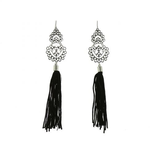 Long feather earrings, NATHALIE