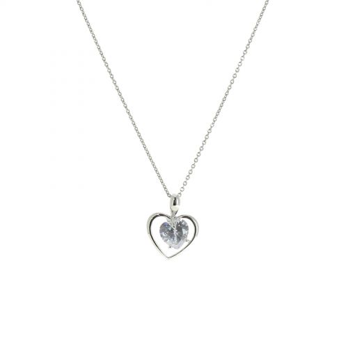 Collier coeur strass