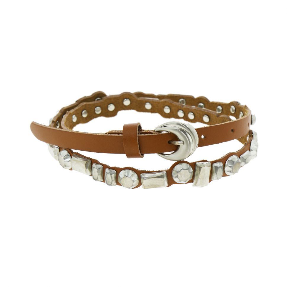 Skull leatherette belt, Dermine