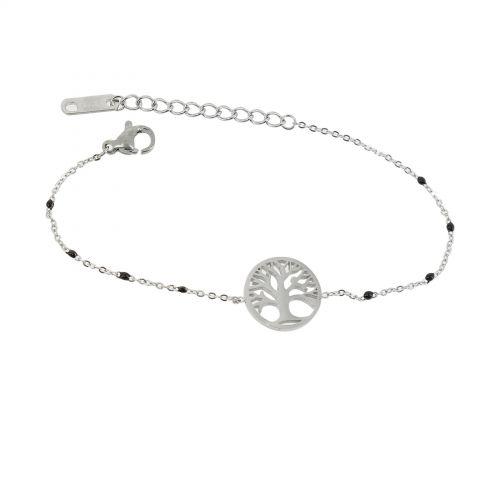 Woman stainless steel bracelet, KENZA