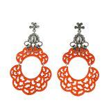 Boucles d'oreilles acrylique, 5645 ROUGE