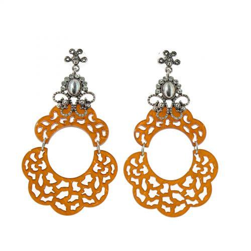 Boucles d'oreilles acrylique, 5645 CAMEL