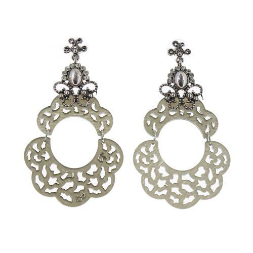 Boucles d'oreilles acrylique,5645 GRIS
