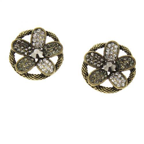 Flower Beaded Dangle earrings for woman, LILIANA
