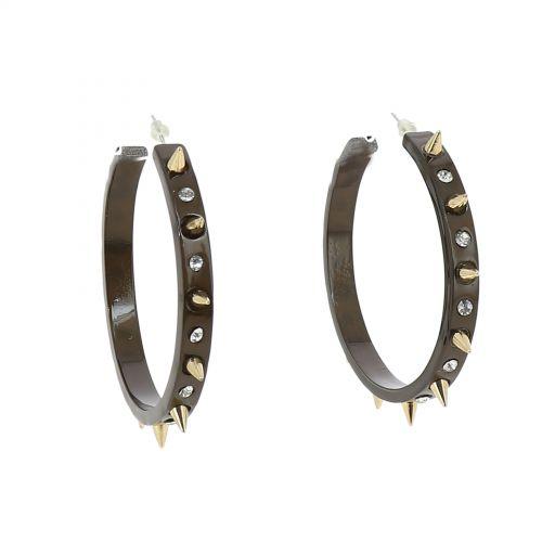 Boucles d'oreilles acrylique MARRON