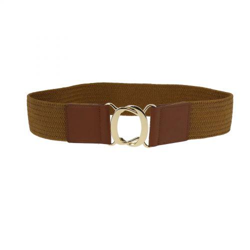 Wide Waist Elasticated Woman Belt, strass buckle, CARLA